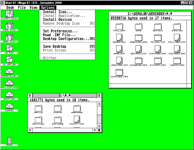 PCdesktops - Atari Emulators Section